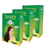 Kangana Henna 100% Natural Henna Powder for Hair - Hair Conditioning Henna Powder for Silky, Soft Hair Naturally - 150 Grams (5.3 Oz)- Pack of 3