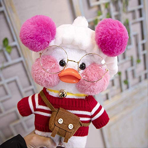 knuffels,Ugly Cute Little Yellow Duck Doll, Doll Shoulder Bag Plush Toy, Doll Birthday Gift 32cm A