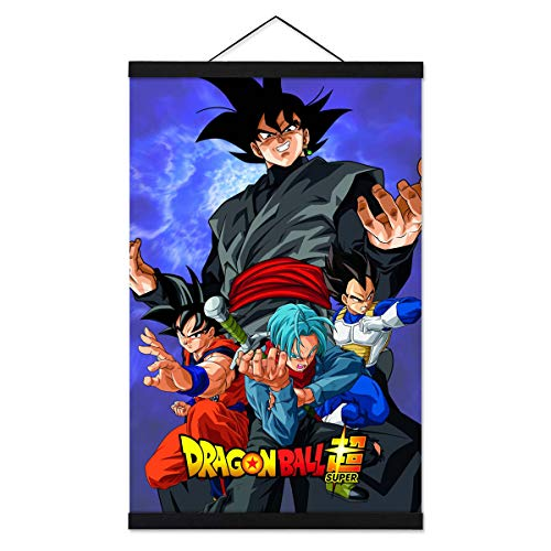 Jackethings Anime Canvas Prints for Wall with 16 Inch Black Powerful Magnet Wood Poster Hanger