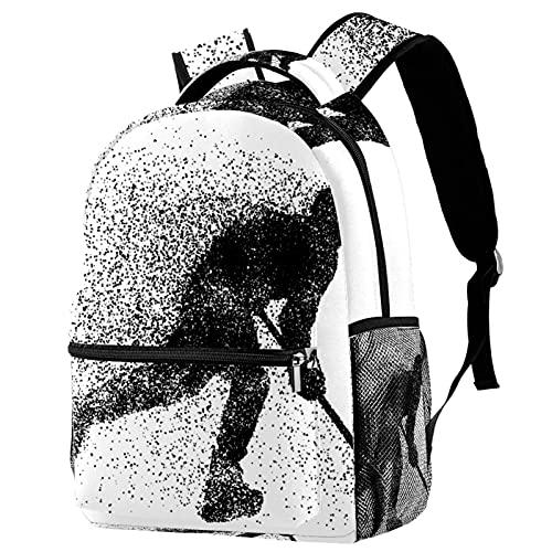 RuppertTextile Zaino per ragazze e ragazzi Bookbag Multiuso Daypack Borsa da viaggio all'aperto hockey su ghiaccio con tasca taglia Size