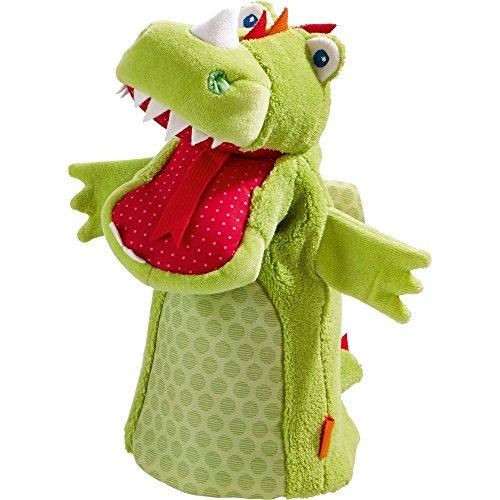 HABA 302525 - handpop draak, speelgoed voor kleine kinderen