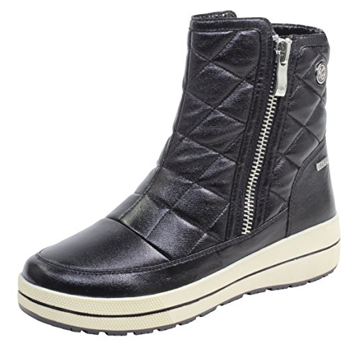 CAPRICE Damen Winterstiefel 26454-21,Frauen Winter-Boots,Schneestiefel,warm,wasserdicht,Tex Decksohle,4cm,Black METALLIC,UK 7