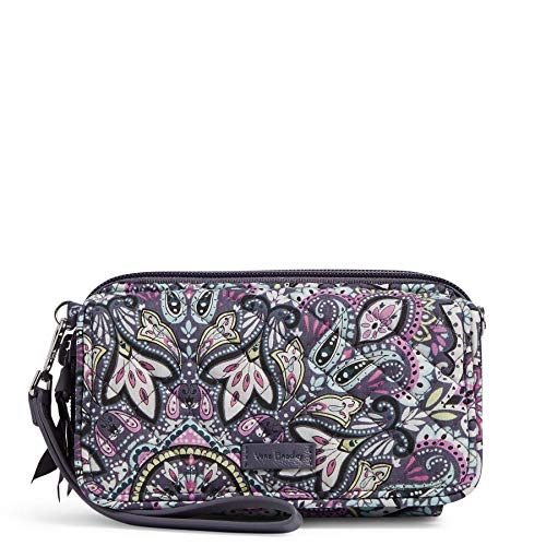 Vera Bradley womens Signature Cotton All in One With Rfid Protection Crossbody Purse, Bonbon Medallion, One Size US
