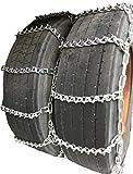 TireChain.com 265/75R22.5, 265 75R22.5 Dual Tire Chains Set of 2