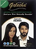 5x10g Golecha Natural Henna Based Hair Color, No Ammonia - BLACK (Natürliche Herbal Haarfarbe -...