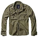 Brandit Vintage Shirt Longsleeve, Manches Longues, Olive L