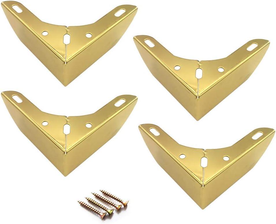 Patas de Mesa de caf/é reposapi/és o Almohadillas para pies Patas de Repuesto para gabinetes Patas de sof/á sillones Juego de 4 Patas de Muebles de Metal ZKORN Patas de Muebles 10 Dorado