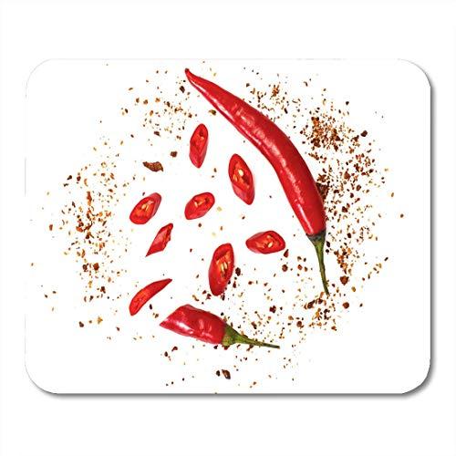 Muis Pad Top Chili Rode Pepper Flakes likdoorns en poeder Studio muismat voor notebooks,Desktop Computers Muismatten