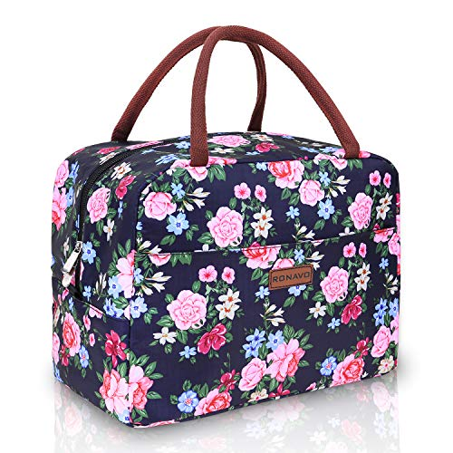Lunch Bags for Women Insulated Cooler - Lunch Bag Tote Bag Lunch Box with Large Capacity by RONAVO…