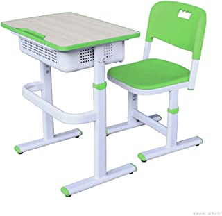 EXCLVEA-TCS Baby Activity Table- Childrens Study Desk Chair Table Set Tiltable Table And Chair For Kids Art Table Set Work Station Baby Play Table  Color Green