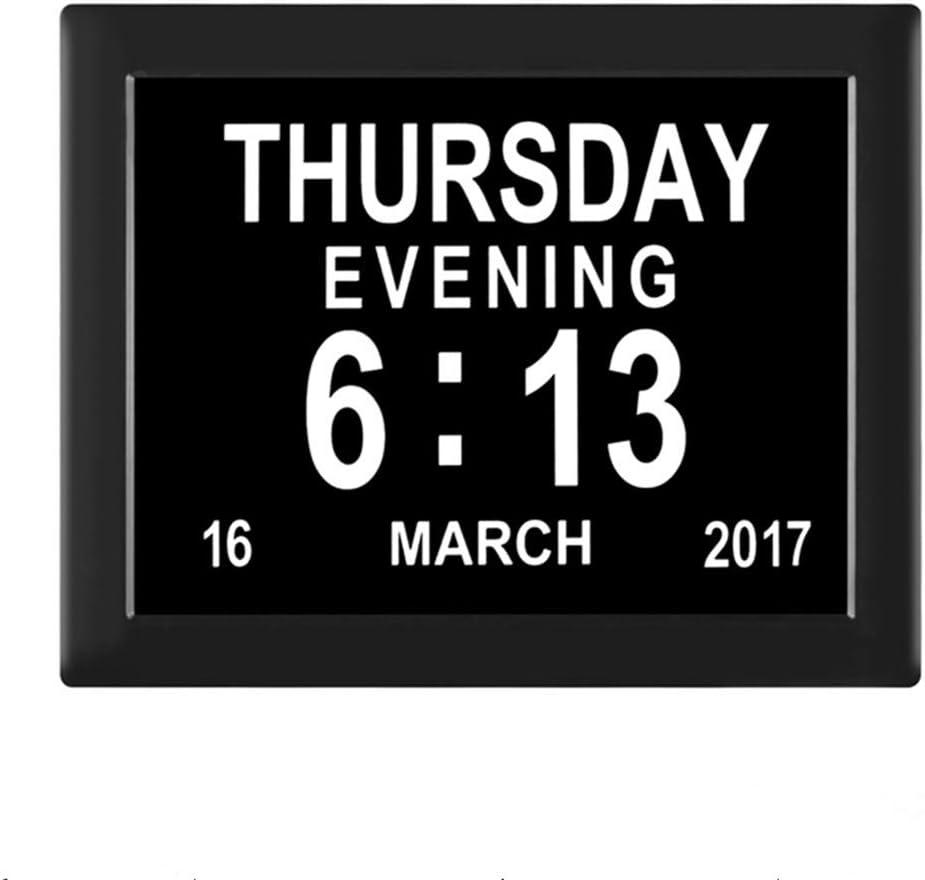 Lo mejor para la pérdida de memoria y la visión limitada: Dementia Calendario Digital/Reloj con Caracteres día y Mes