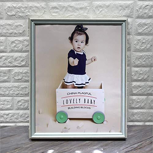 Nieuwe creatieve high-end eengats fotolijst met dubbele kleuren schommeltafel boeket kindertafel schommelwand 8inch