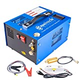 Spritech PCP Air Compressor, Portable 4500Psi/30Mpa, Water/Oil-Free, PCP Rifle/Pistol and Paintball Tank Air Pump, Powered by 12V Car DC or Home 110V AC with Power Converter and Oil-Moisture Filter