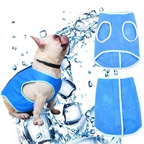 Hundeweste Sommer, Kühlweste für Hunde, Atmungsaktiv Wiederverwendbar Haustier Kühlweste Abkühlen Sonnendicht Mantel für Welpen und Hunde