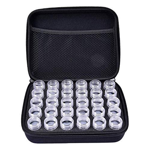 30 Botellas Diamante Bordado Caja,Pintura Funda,Bricolaje Decoración de Uñas Manualidades Cuentas Caja...