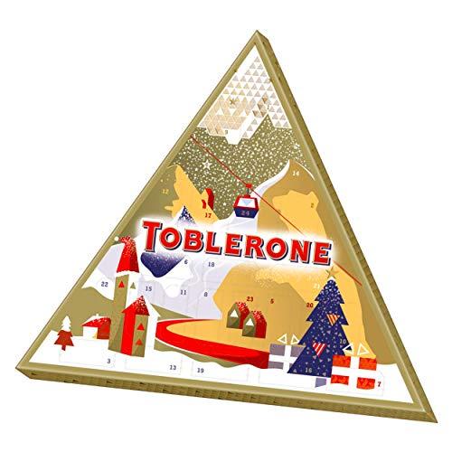 Toblerone – Calendrier de l'Avent – Assortiment de Chocolats Suisses de Noël – Boîte de 200g