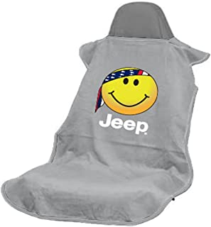 Seat Armour SA100JEPSFG Grey 'Jeep Smiley Face' Seat Protector Towel