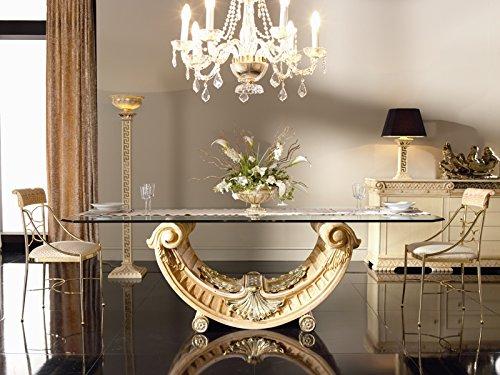 Zac Mesa Salón | Comedor | Clásica | Medidas 250 X 110 X 75 cm. | Estilo Rococo | Acabado Artesanal Detalles en Baño...