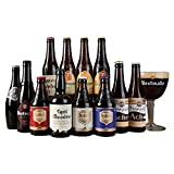 Abbey & Trappist Beer Mixed Case with 1 Free Chalice Glass - 12 Beers and 1 Glass - by Beer Hawk
