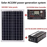 Monocristalino Panel Solar Sistema De Energía Solar Panel Solar para Autocaravana para Camper, Caravaning, Reuniones De Autocaravanas, Ferias, Oficinas Móviles Sistema