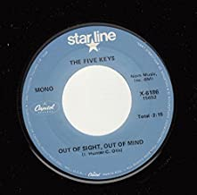 THE FIVE KEYS 45 RPM Out Of Sight, Out Of Mind / The Verdict