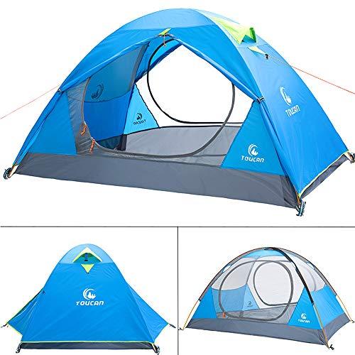 LGF Helmet 360 Grad Panorama Menschen Outdoor Camping Zelt Tabernacle bietet Platz für 2-3 Personen für Suite Picknick Rucksack Angeln Angeln Zelt 220 * 250 * 120 cm,Blue