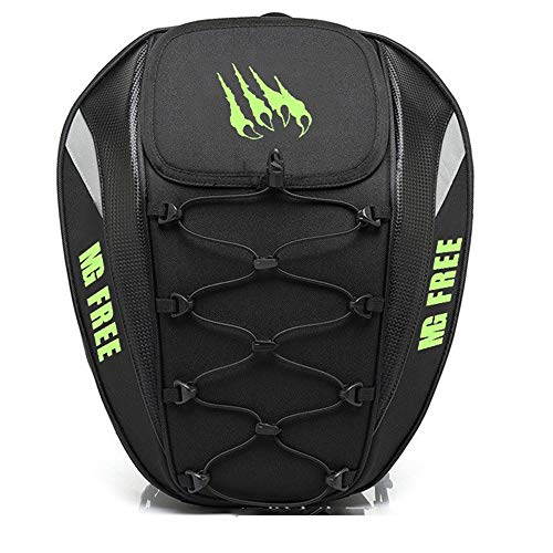 Kaper Go Motorcycle Rear Tail Bag Rear Seat Bag Backpack Can Be Equipped With Helmet To Send Rain Cover Dual Use (Color : C)