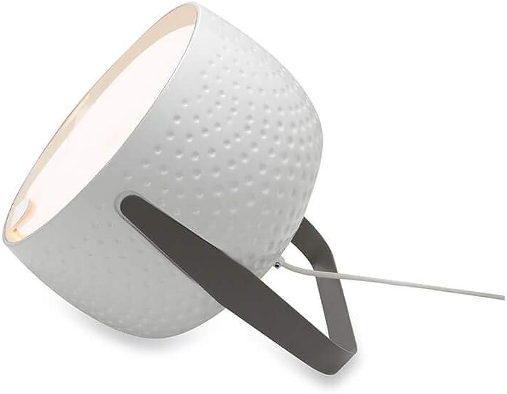 Karman bag, lampada da tavolo,in ceramica con texture bianco lucido CT154DB INT