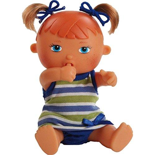 Paola Reina - 03585 - Mini-poupée - Pia - Collection Les Bébés - Boit Son Biberon Et Fait Pipi - 22 Cm
