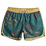 MaaMgic Mens Boys Short 80s 90s Vintage Swim Trunks with Mesh Lining Quick Dry Swimming Trunks Bathing Suits by MaaMgic