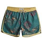 MaaMgic Mens Boys Short 80s 90s Vintage Swim Trunks with Mesh...
