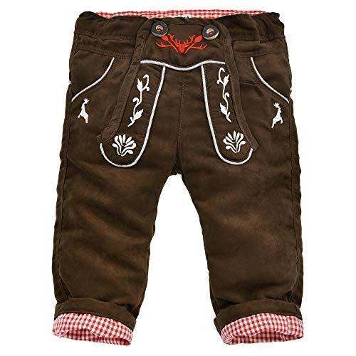 Baby-Kunstlederhose in Bester Qualität Gr. 74 I Schöne Jungen-Hose in Braun I Lederhose für Kinder und Kleinkinder aus Lederimitat I Wunderschöne & Bequeme Kinderbekleidung