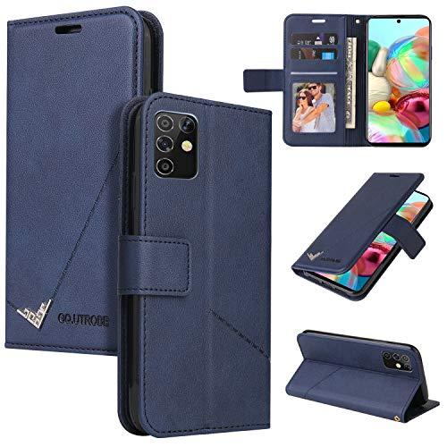 LODROC Galaxy A81/M60S/Note 10 Lite Hülle, TPU Lederhülle Magnetische Schutzhülle [Kartenfach] [Standfunktion], Stoßfeste Tasche Kompatibel für Samsung Galaxy A81 - LOYKB0600193 Blau