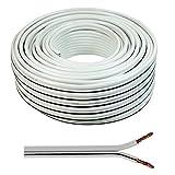 Wire4U® - Cable para altavoz (2 x 0,50 mm, 50 hilos de...