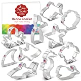 Ann Clark Cookie Cutters 11-Piece Under The Sea Cookie Cutter Set with Recipe Booklet, Shark, Whale, Fish, Mermaid Tail, Sea Turtle