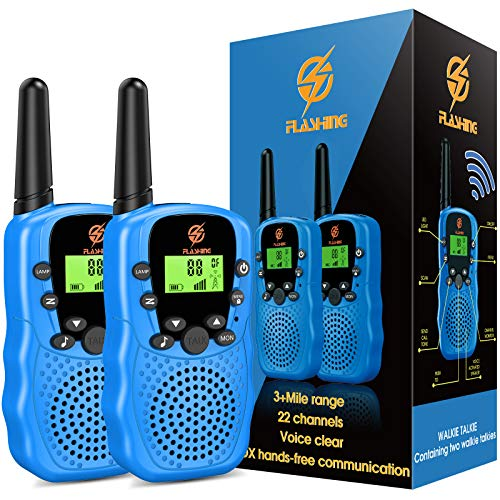 Walkie Talkies for Kids, dmazing Kids Walkie Talkies for Boys Age 5-10 Christmas Birthday Gifts for 3-6 Year Old Boys Kids Outdoor Toys for 3-6 Year Old Boys Stocking Stuffers Blue