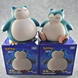 Cute Cartoon Piggy Bank Snorlax Anime Figuras, Pokemones Snorlax Money Bank Figura De Acción Modelo Juguetes Regalos para Niños 2 Unids / Set 14-16Cm