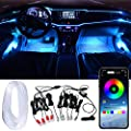 Car LED Strip Light, Multicolor RGB Car Interior Lights, 16 Million Colors 9 in 1 with 6 Meters/236 inches Fiber Optic, Ambient Lighting Kits, Sound Active Function and Wireless Bluetooth APP Control