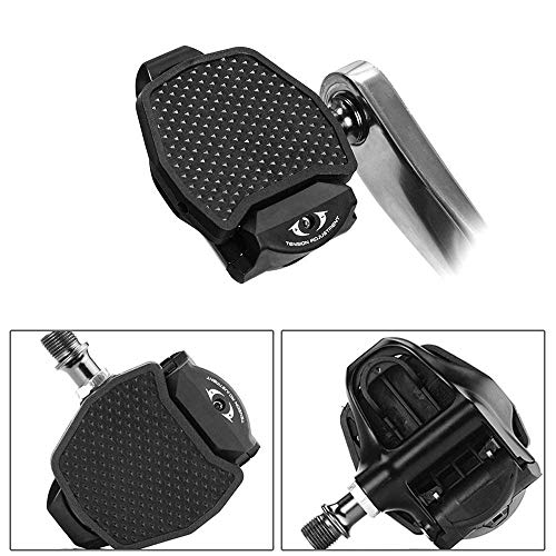 Chooee Pedal Adaptador de Plataforma Negro Clipless para Shimano SPD/SPD-SL Speedplay (Work Road Bike Only)