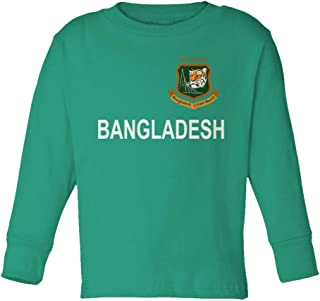 SMARTZONE Cricket Bangladesh Jersey Style Fans Supporterr Toddler Long Sleeve T-Shirt