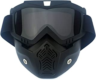 HCMAX Motorcycle Goggles Glasses With Detachable Face Mask
