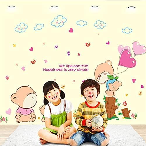 Pegatinas de pared de osos de PVC x91cm decoración para el hogar de los niños Pegatinas artísticas
