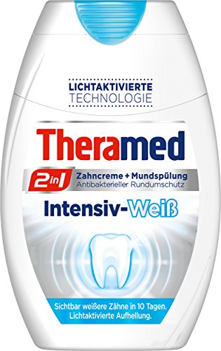 Theramed 2-in-1 Intensiv-weiß Zahncreme, 5er Pack (5 x 75 ml)