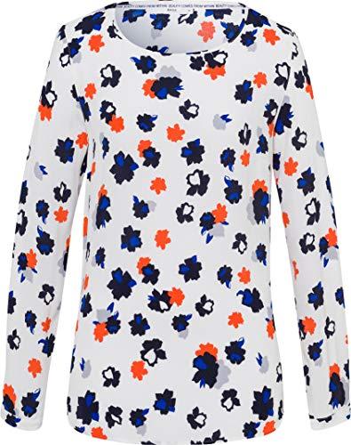 BRAX Damen Style Vaida Rundhalsbluse Print Bluse, Offwhite, 36