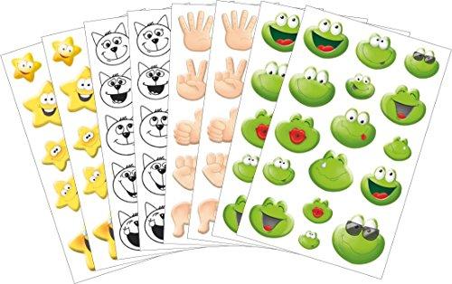 AVERY Zweckform 58213 Emoticon Sticker Set (Vorteils-Pack) 126 Aufkleber