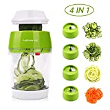 MENNYO Vegetable Spiralizer 4 in 1, Spiraliser Hand Held Mandolin Vegetable Slicer