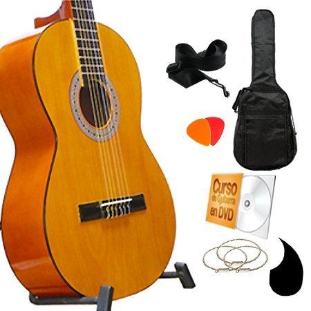 Guitarrra Clasica Miel en Super paquete todo incluido, curso en DVD