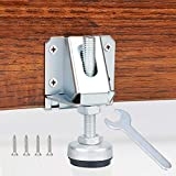 4 Pack Heavy Duty Leveling Feet, Furniture Leg Adjustable Load Levelers Foot, Leveler for Workbench Cabinet Pool Table Bench Machine Feet (4000 LB Capacity)