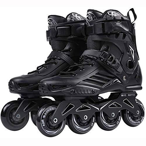 Skates Rollschuhe Adult Outdoor-Schwarz-Berufs Inline Roller Bequeme Freestyle for Frauen und Teens LQHZWYC (Color : Black, Size : 39)