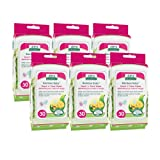 Aleva Naturals Bamboo Baby Hand 'n' Face Wipes - 180ct (6 packs of 30ct)